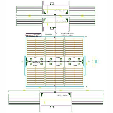 Funktionszeichnung eines Holztrocknungszentrum